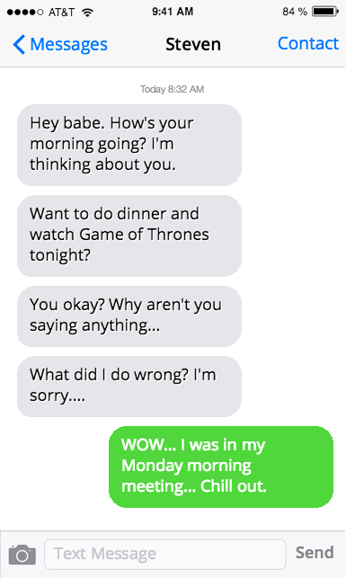 Relationship text messages
